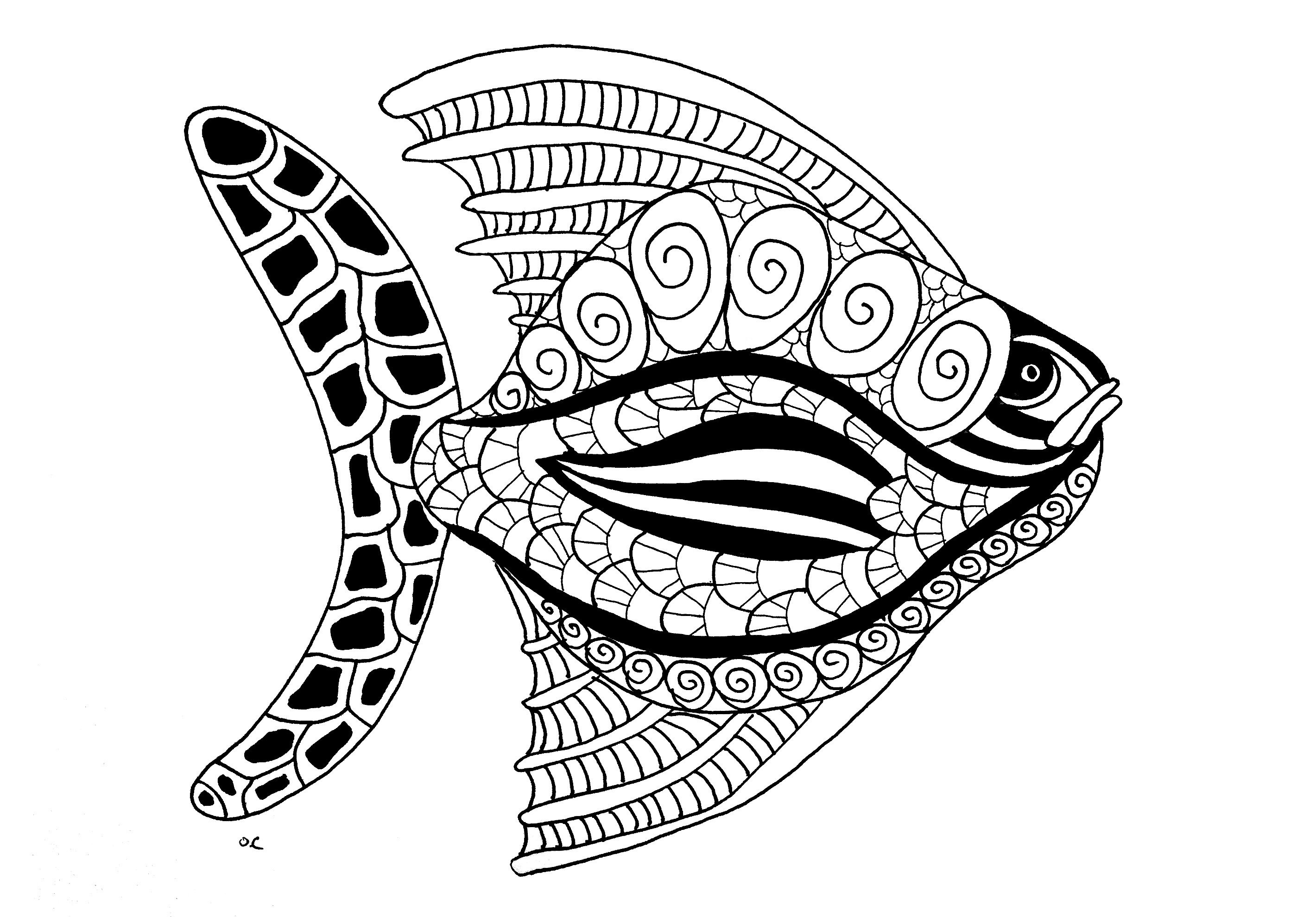 Fish Adult Coloring Pages At Getdrawings Free Download