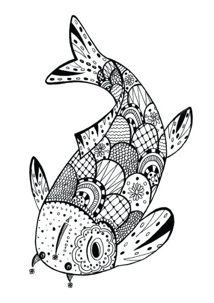 422x596 Free Coloring Pages Fish Adult Coloring Pages Fish Free Coloring