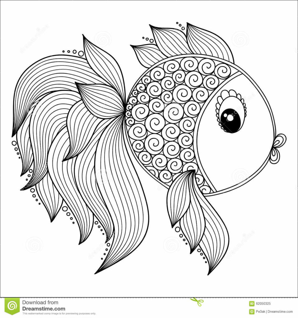 958x1024 Adult Coloring Pages Fish