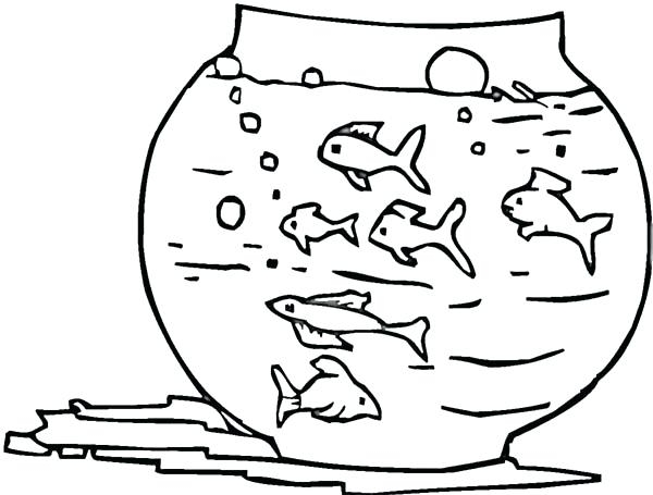 Fish Bowl Coloring Page At Getdrawings Com Free For Personal Use