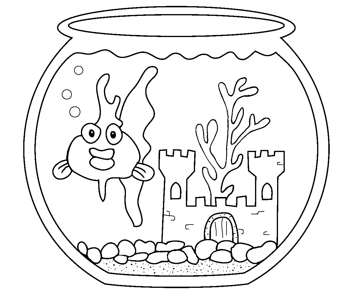 Fish Bowl Coloring Page at GetDrawings.com | Free for ...