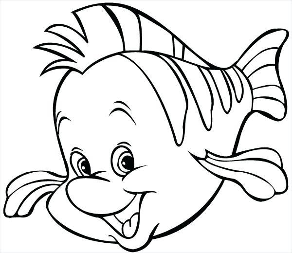 600x520 Cartoon Fish Coloring Pages Fish Coloring Page Cartoon Fish