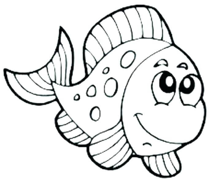 681x600 Cartoon Fish Coloring Pages Free Coloring Pages Fish Coloring Page