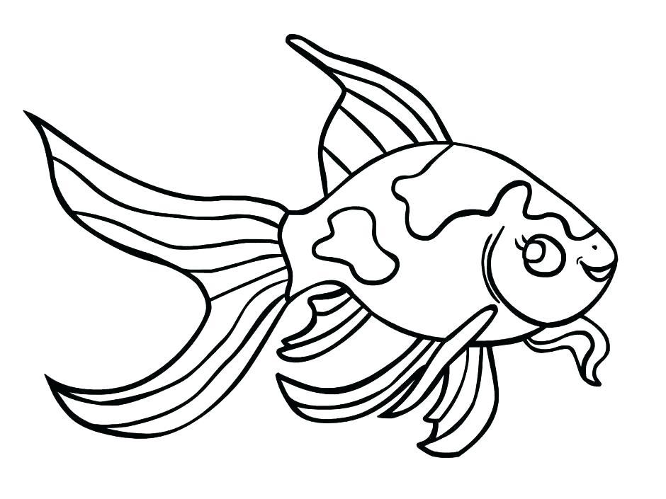 940x705 Cartoon Fish Coloring Pages Pout Pout Fish Coloring Page