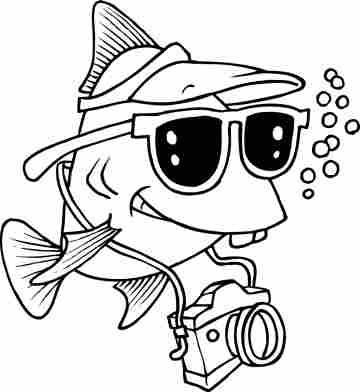 360x392 Funny Cartoon Coloring Pages Funny Cartoon Coloring Pages Fish