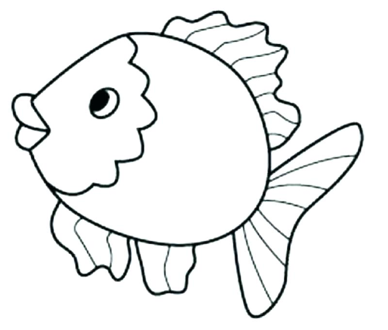 800x680 Cartoon Fish Coloring Pages