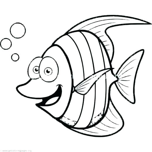 520x520 Cartoon Coloring Pages Printables Cartoon Fish Coloring Pages Cute