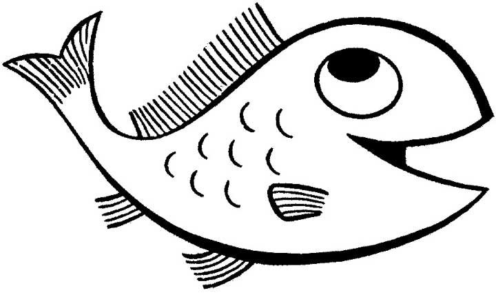 720x431 Cartoon Fish Coloring Page For Kids