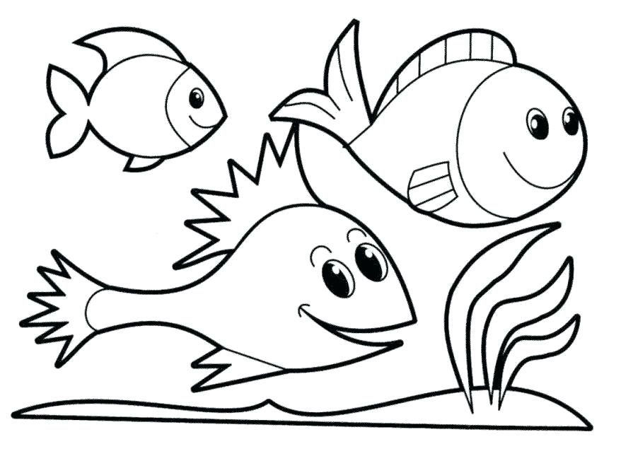 878x669 Color Pages Of Fish Fish Color Pages Plus Coloring Fish Coloring