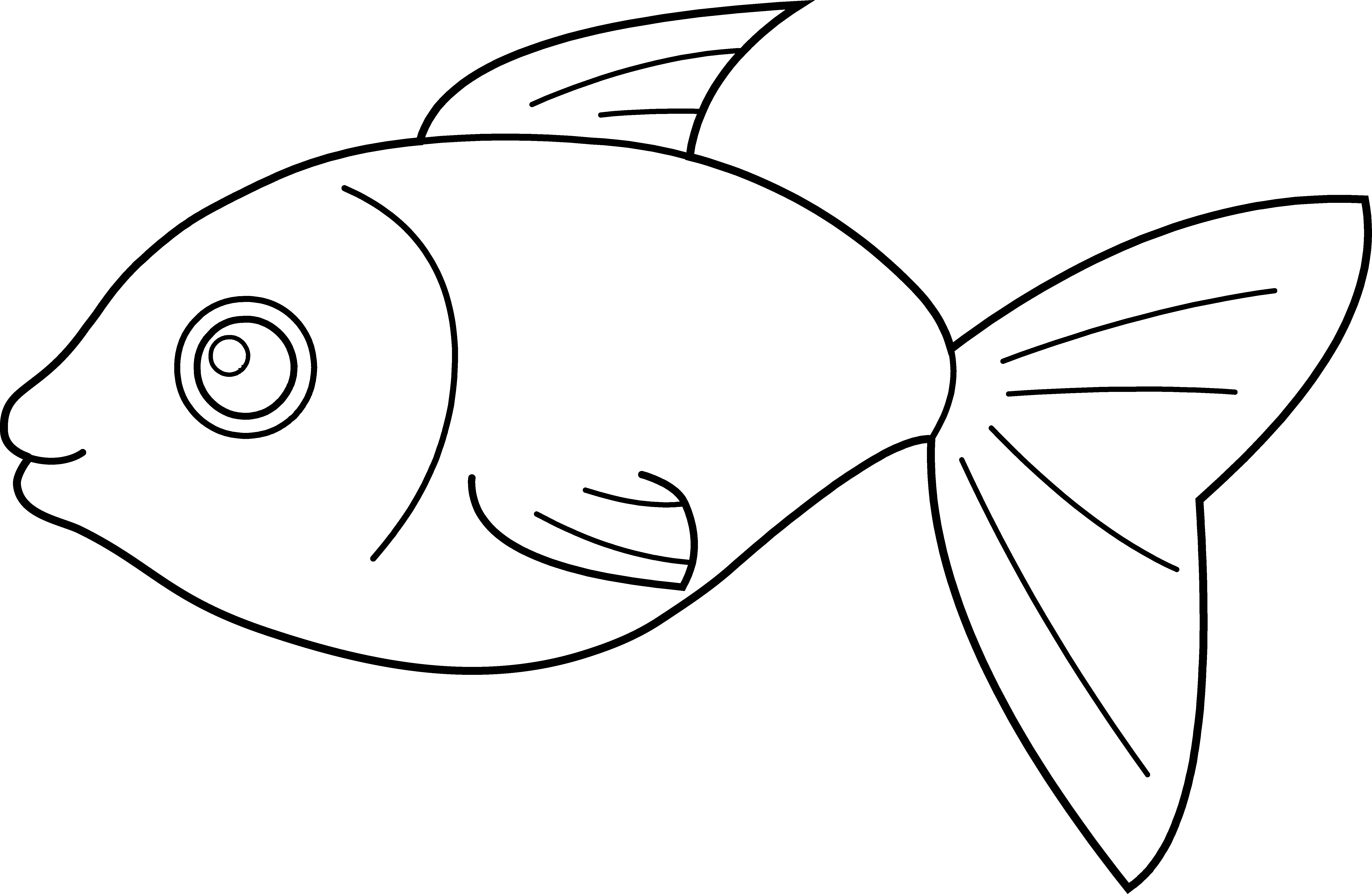 6560x4275 Fish Coloring Page Lovely Happy Fish Coloring Page Free Clip Art