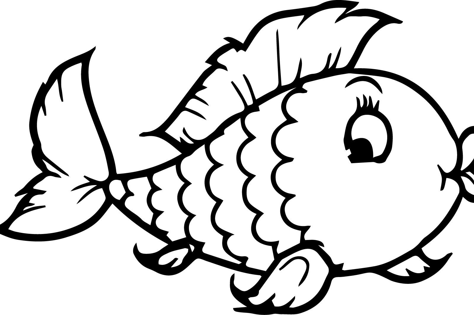 1600x1062 Fish Coloring Pages For Preschool