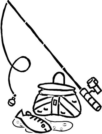 328x430 Fishing Equipment Clip Art Equipment For Fishing Coloring Page