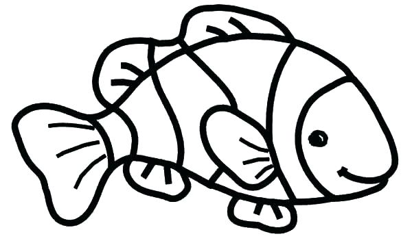 600x355 Outline Of Fish To Color Bowl S Fish Outline Coloring Page