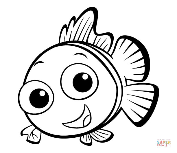 612x529 Fish Pictures To Color Coloring Page