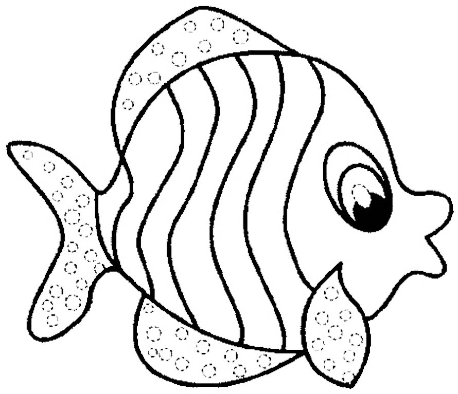 890x767 Fish Pictures To Color Fish Coloring Pages Free Printable Coloring