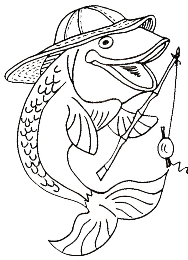 600x828 Coloring Pages About Fish Awesome Coloring Books
