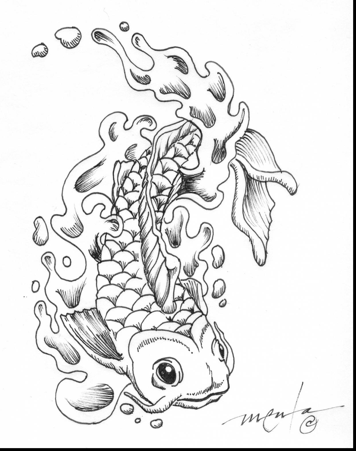 1241x1570 Koi Coloring Pages For Adults Koi Fish Coloring Page Group