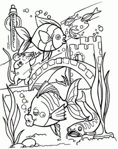 236x298 Sea Creature Coloring Pages Tropical Fish, Free Printable And Fish