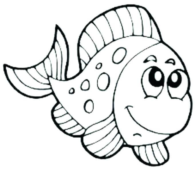 681x600 Clown Fish Coloring Page Printable Fish Coloring Pages Fish