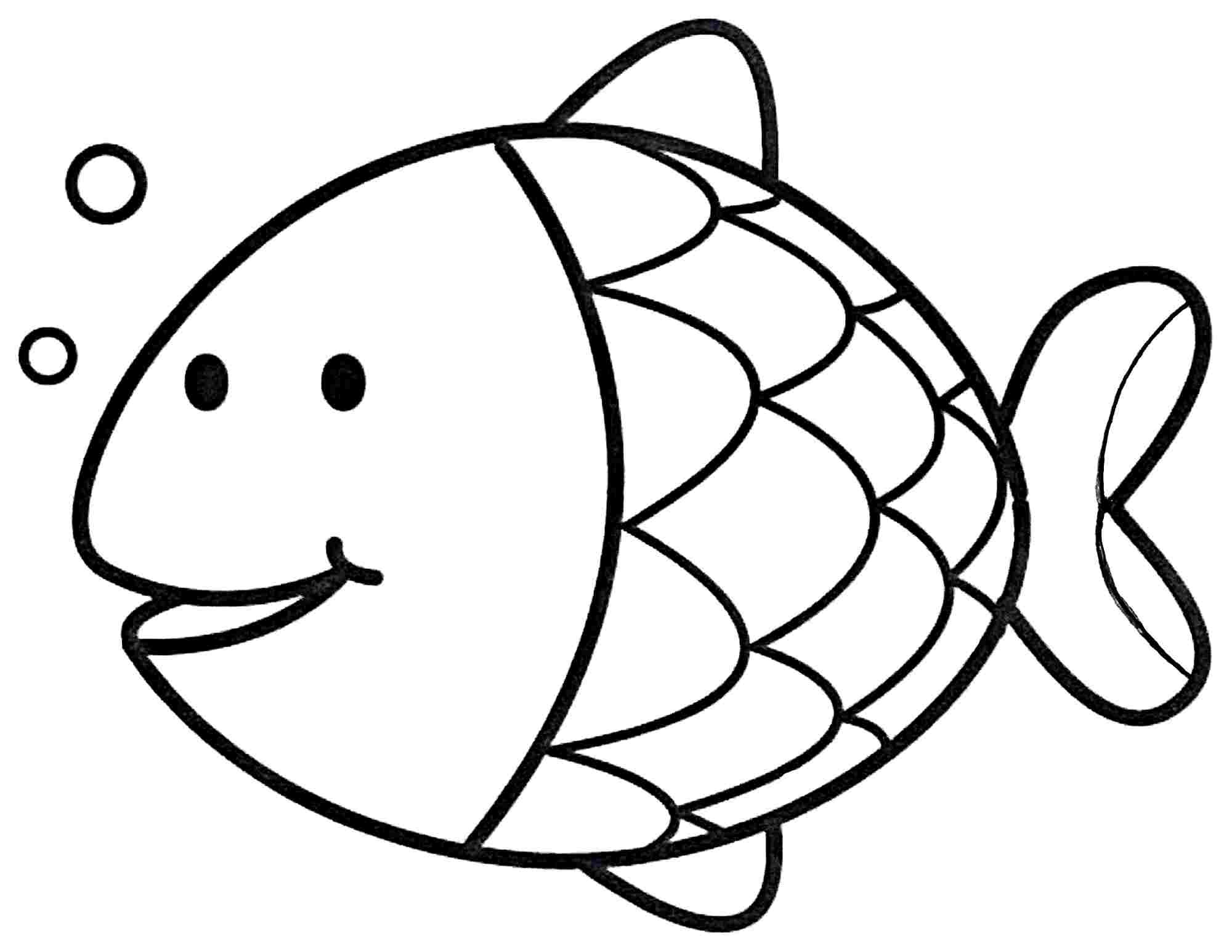 2000x1546 Fish Coloring Page Preschool Fishes Beauteous Pages For Wagashiya
