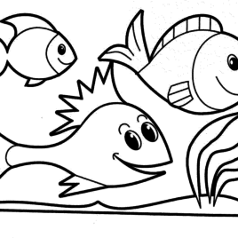 268x268 Fish Coloring Pages Dr Odd Fish Coloring Pages For Preschoolers