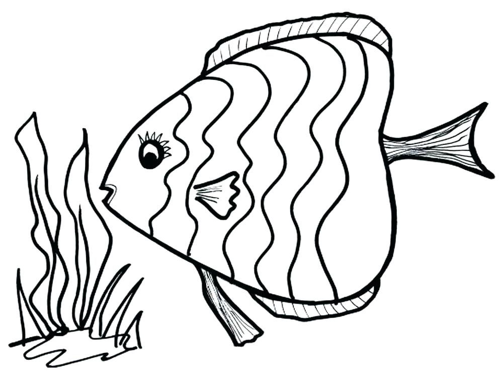 1000x750 Fish Coloring Pages Fish Coloring Pages For Preschoolers Fish