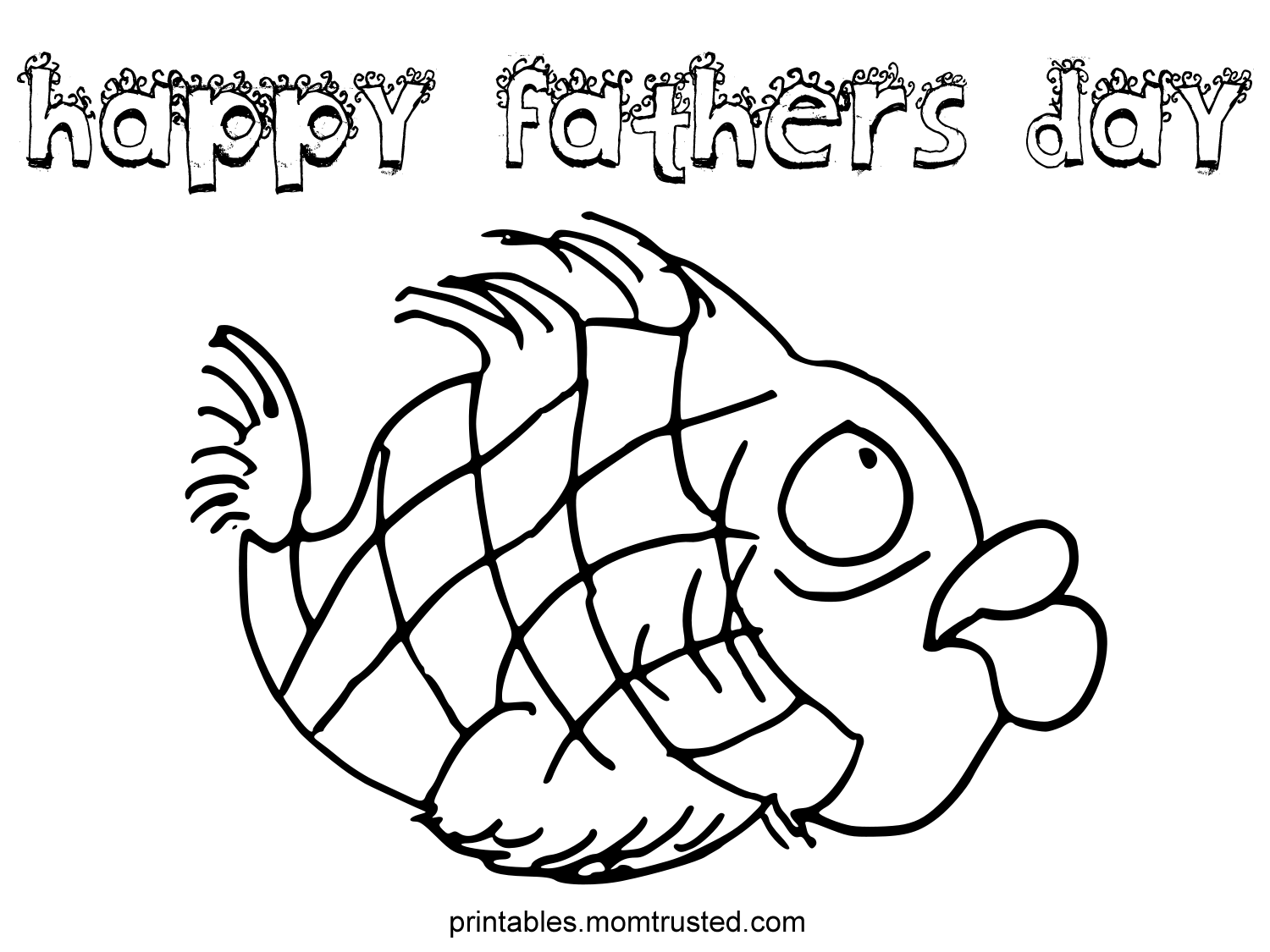 1500x1125 Happy Fathers Day Coloring Pages Father S Fish Page Preschool
