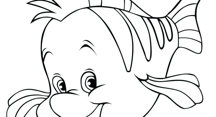 735x400 Beautiful Fish Coloring Pages For Preschoolers Pictures Global