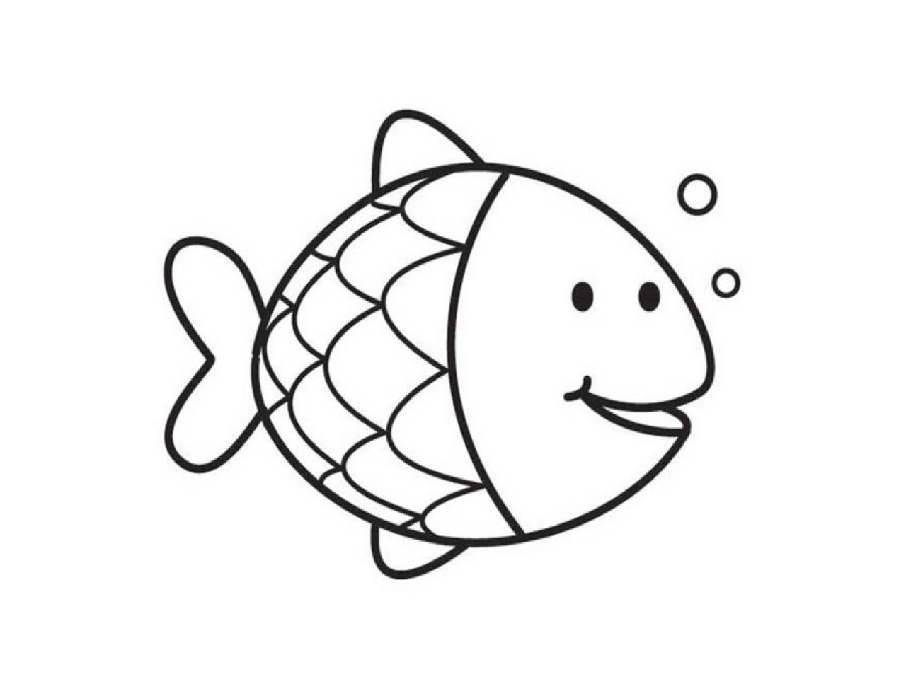 1280x960 Rainbow Fish Coloring Page Preschool In Sweet