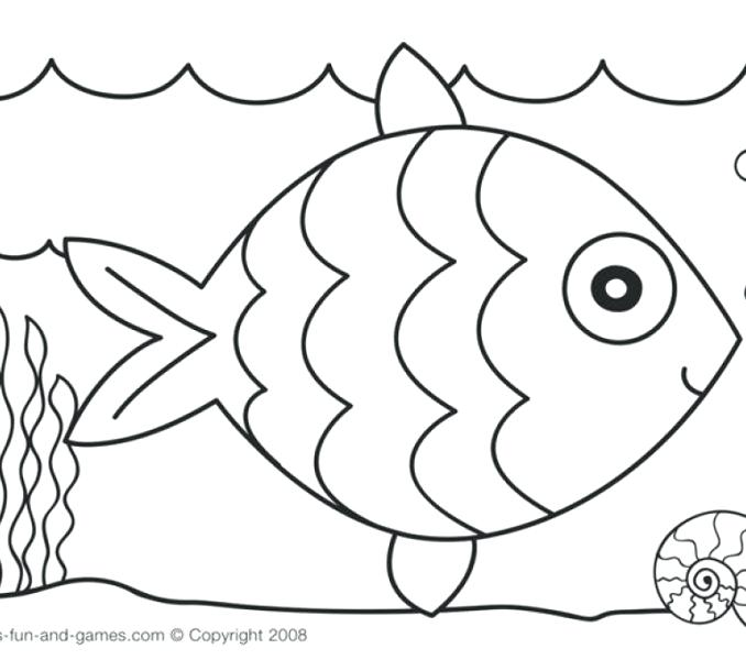 678x600 Rainbow Fish Coloring Pages Rainbow Coloring Pages Color