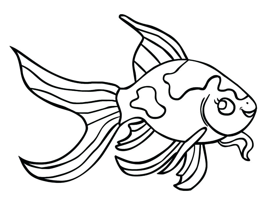 940x705 Coloring Page Of Fish Coloring Page Of A Fish Fish Coloring Pages