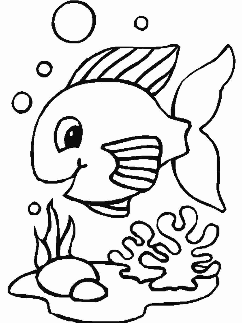 1020x1361 Fish Coloring Pages For Toddler Coloringstar Magnificent Cute