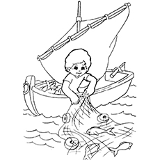 230x230 Fisherman Coloring Pages For Your Kids