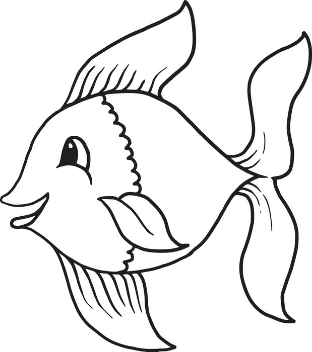 619x700 Cartoon Fish Pictures To Print Fish Coloring Pages Free Printable