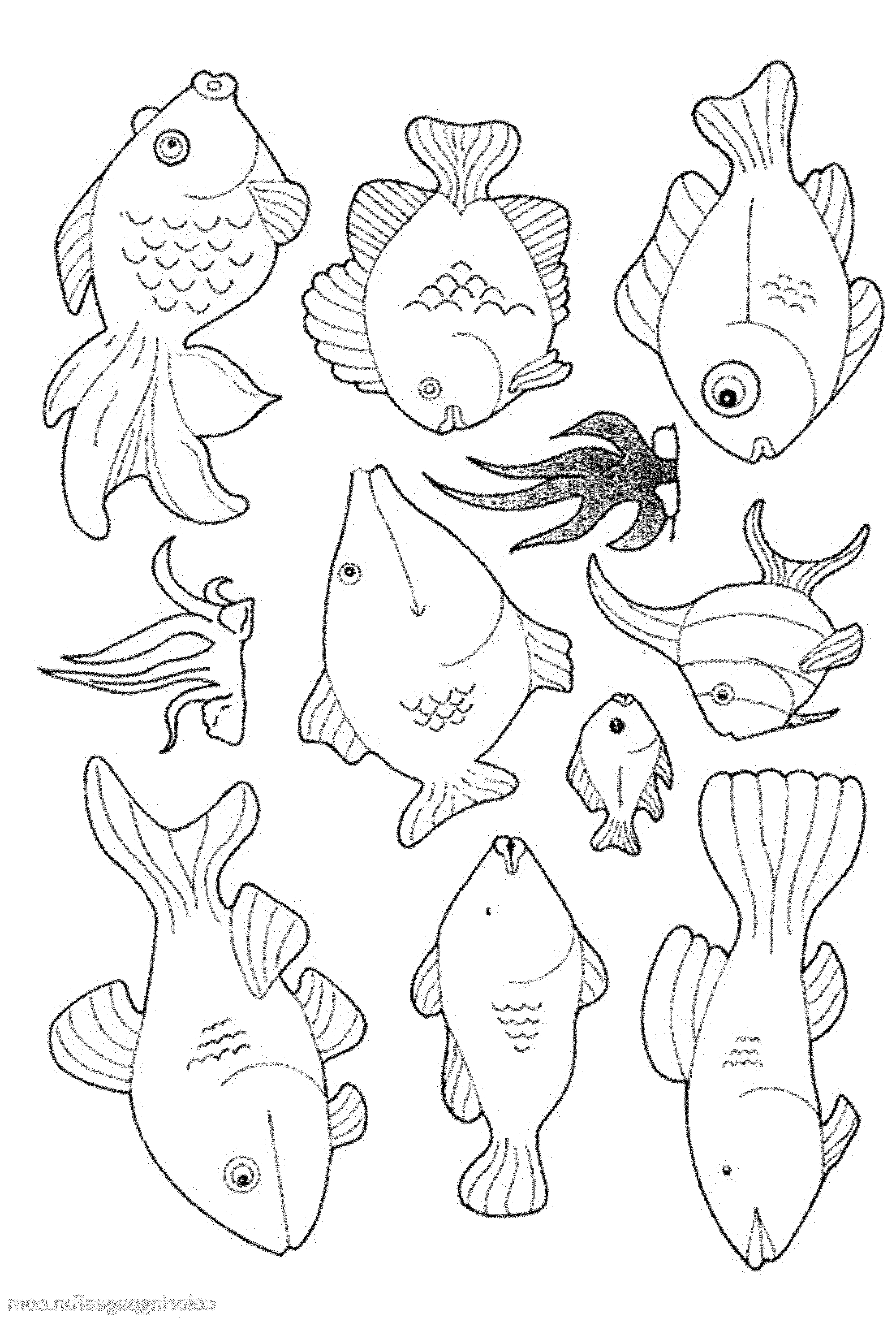 Fish Coloring Pages For Toddlers at GetDrawings.com | Free for ...