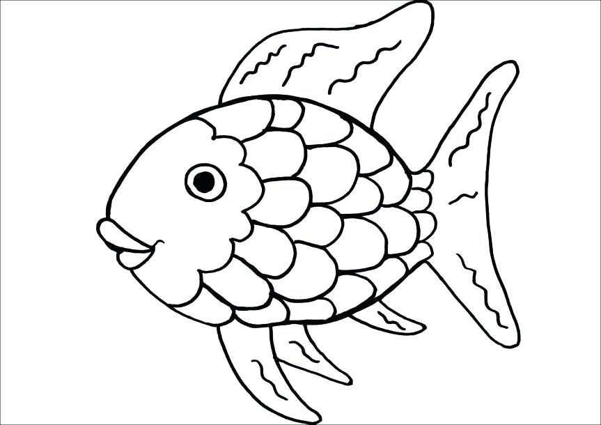 863x610 Coloring Fish Pages Fish Coloring Sheet Coloring Pages Rainbow