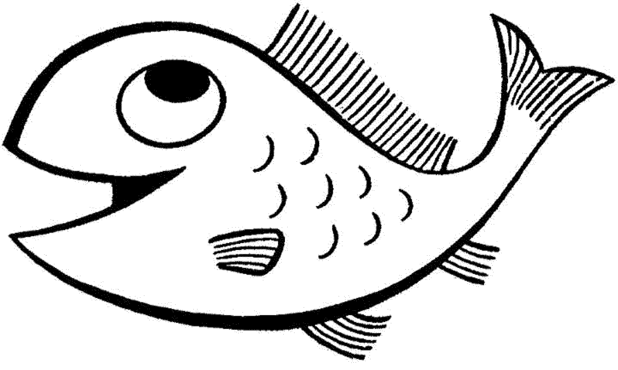 2000x1197 Smart Idea Printable Fish Coloring Pages Spectacular For Kids