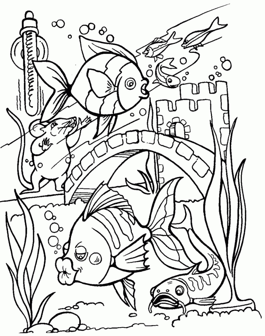 Fish Tank Coloring Page at GetDrawings | Free download