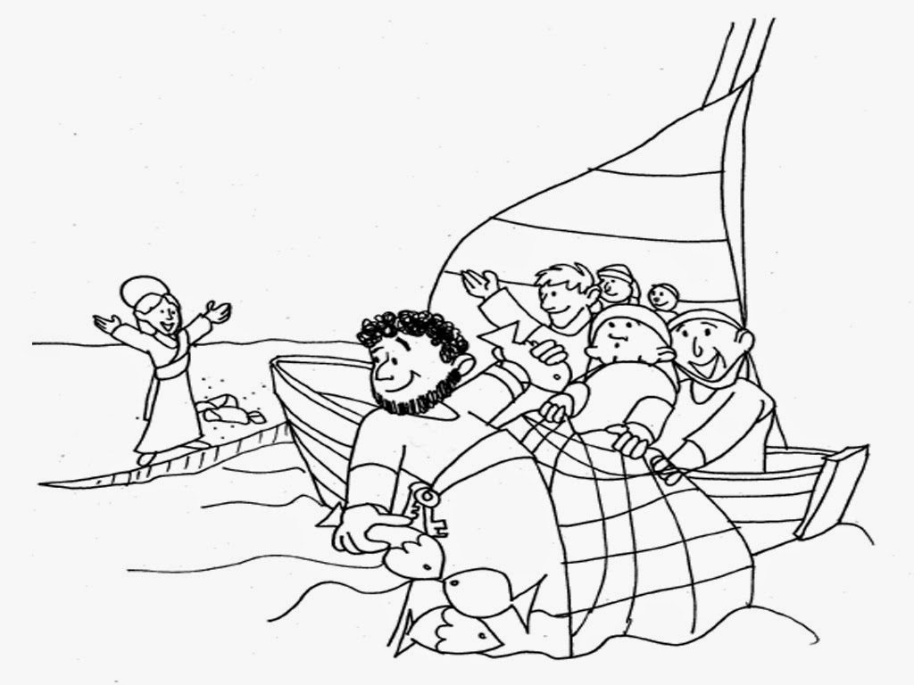 Fisherman Coloring Pages