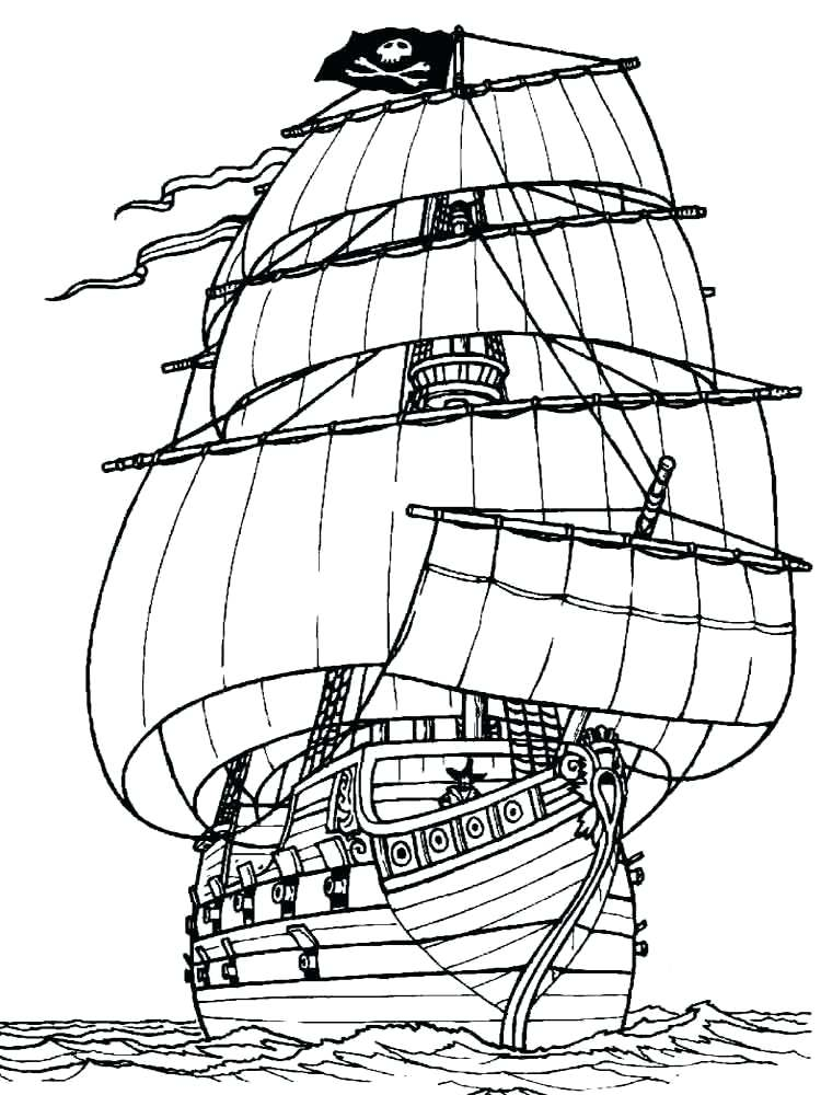 750x1000 Coloring Pages Of Boats Free Printable Coloring Pages Boats