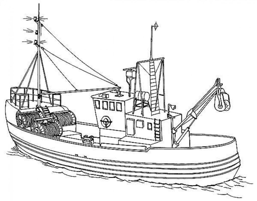 1024x802 Fishing Boat Coloring Pages