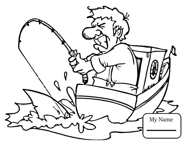765x587 Fishing Boat Coloring Pages Activities Cartoon Fisherman Free