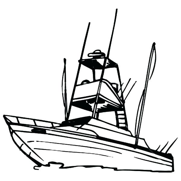 600x600 Fishing Boat Coloring Pages Best Inshore Fishing Boats Boat