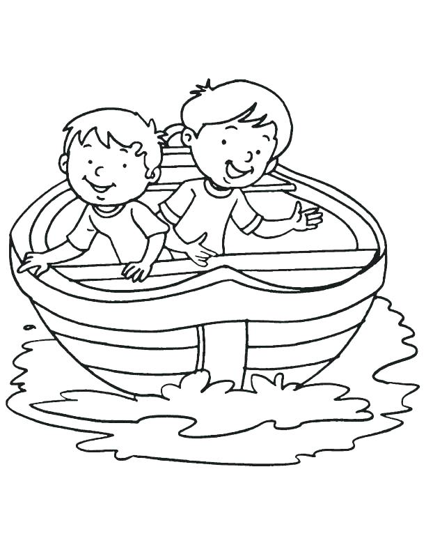 612x792 Fishing Boat Coloring Pages Boat Coloring Page Two Boy In A Boat