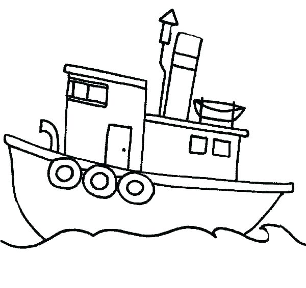 600x566 Fishing Boat Coloring Pages Boats