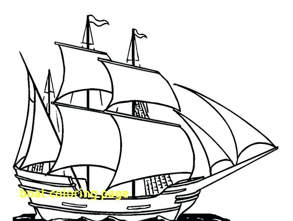 600x453 Fishing Boat Colouring Pages Coloring Page With Boats Printable