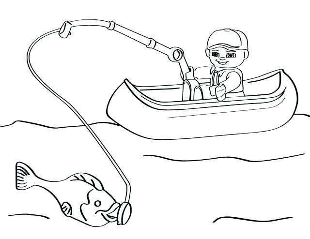 640x494 Fishing Coloring Pages Players Fishing Boat Coloring Page