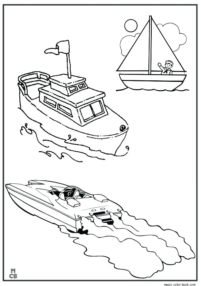 685x975 Traditional Fishing Boat Coloring Pages Kids Play Color