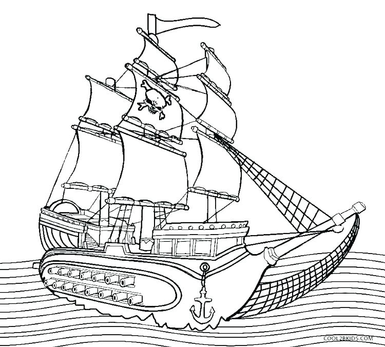 750x676 Boat Coloring Pages Pirate Boat Coloring Page Images Pirate Ship