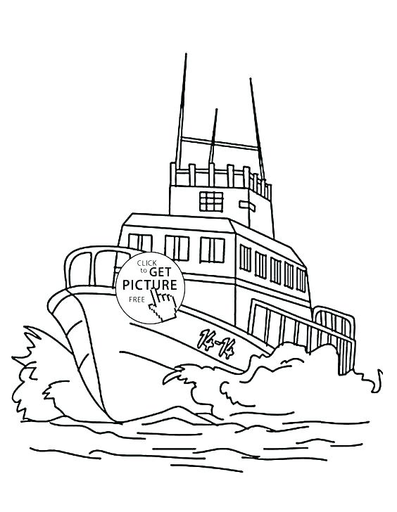 564x728 Boats Coloring Pages Fishing Boat Coloring Pages Transport Ships